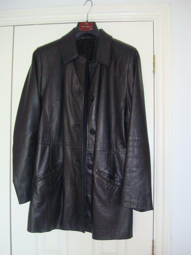 Black Leather M & S Jacket