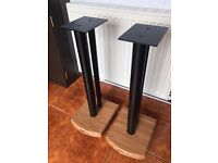Atacama Moseco 6 Light Bamboo Speaker Stands with Spikes And Feet