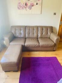Sofa , cuddle chair and foot stool
