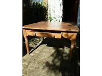 Large old pine table