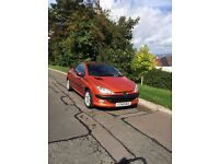 Convertible Peugeot 206 cc - MOT just renewed