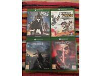 4 XBOX ONE GAMES (tekken7,trial fusion,destiny,final fantasy XV)