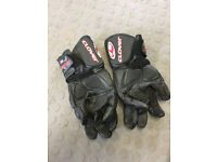 Clover motorcycle gloves and waterproff overboots and gloves