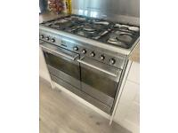 Smeg electric double oven and gas hob