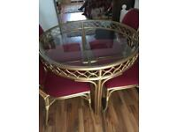 Circular Dining Table & 4 Chairs.