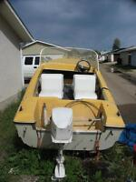 14' Anchor Boat, trailer and 18hp motor