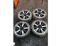 Original 17 Inch Wolfrace Alloys and Tyres x4