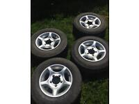 "15"" Alloy Wheels and Tyres Daihatsu Fourtrak"