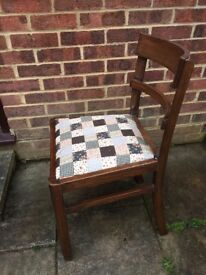 Lovely Wooden Dining/Living Chair painted in any colour & reupholstered in any fabric
