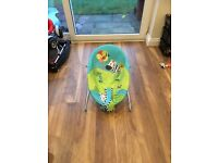 Bright starts vibrating baby bouncer sold as seen .