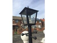 Driving way lamps heavy duty 3 in total one needs outing to gether can be put on patio