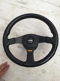 Momo steering wheel and blue air filter