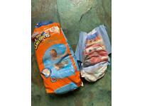 FREE - swim nappies x 3 size 5-6 & pull-up pants x 1