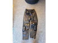 Swfit leather motorcycle trousers size 36