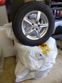 Winter tyres on alloy rims in excellent condition