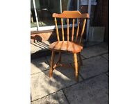 4 Solid Pine Chairs.