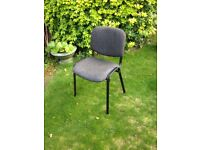 Office Padded 8 Chairs - Black & Grey