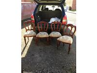 Mahogany four chairs for sale