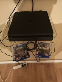 Week old PS4 and 3 games controller like new