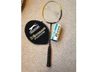 Slazenger badminton racket and 3 shuttlecocks