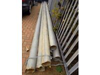 Heavy Duty Galvanised Steel Tubes / Poles. Approx 8m Long 6mm Thick. 165mm Diameter.