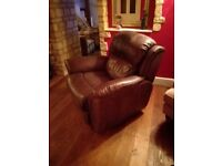 Recliner leather chair
