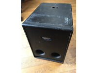 2 MACKIE SUBWOOFERS MODEL SRS1500 USED CONDITION INCLUDES POWER LEADS