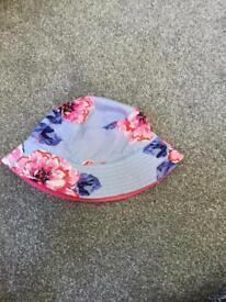 Joules baby girls sun hat size medium