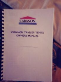 Cabanon galaxy trailer tent with awning and extras