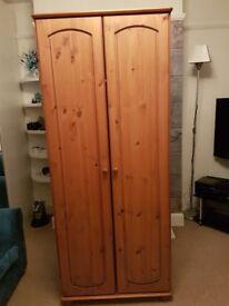 Two door pine wardrobe