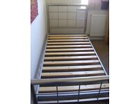 Single bed frame Brushed Aluminium - great condition