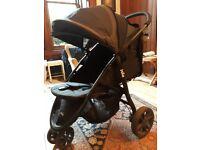 Joie Litetrax Stroller 3 wheel single fold pram