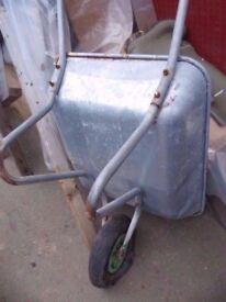 wheelbarrow galvanized