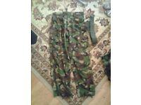 Men's Original Nato Army Issue Smock Combat Trousers & Belt 34W