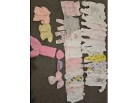 Bundle tiny small premature baby girls clothes