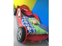 Red 3ft Single Racing Car Bed