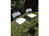 set of 2 bar folding stool