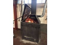 HEAVY DUTY WOOD BURNING INCINERATOR