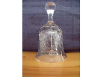 Vintage Edinburgh Crystal bell commemorating marriage Prince Andrew & Sarah Ferguson 23rd July 1986