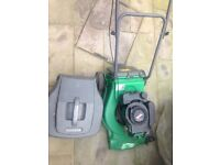 Petrol lawn mower used
