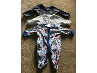 Baby boy sleepsuits and vests