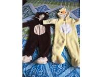 BNWOT Mothercare fleece body suits 3-6 months