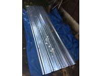 3 x NEW! GALVANISED BOX PROFILE ROOFING SHEETS 10ft x 3ft