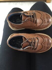 Next kids brown smart shoes - NEW