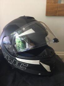 HJC IS-17 Armada Motorcycle Full Face Helmet Touring - Matte Black Grey White