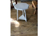 Cream coloured bedside / living room table