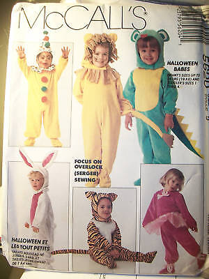 Toddler McCall 5620 UNCUT 9 Costumes Halloween Sewing Pattern Clown Dragon Sz 2