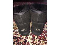Black mini ugg boots size 6