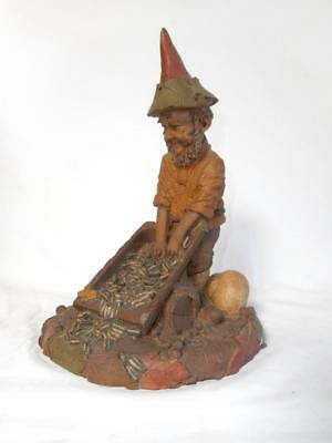 """Tom Clark Gnome 9"""" tall - HITCH  Bird Feeder with barrel of seeds"""
