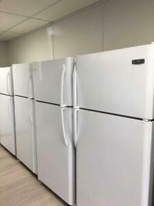 Used White Top-Mount Fridges (18cu.ft). 1 Year Warranty. Professionally Reconditioned